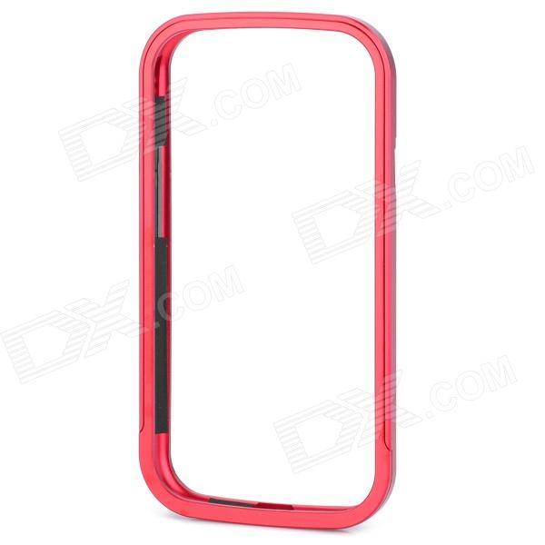 Protective Aluminum Alloy Bumper Frame Case w/ Screen Protector - Red