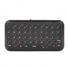 Mini 49-Key Rechargeable Bluetooth V3.0 Ultra-Slim Wireless Keyboard - Black