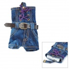 Kreative Insgesamt Shorts Faded Jeans Style Protective Handy-Tasche Pouch - Blue