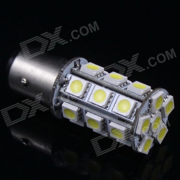 1157 4W 24x5050 SMD White LED Car Decoration Light Bulb (12V)