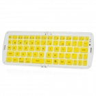 GK208 Waterproof Silicone Folding Bluetooth V3.0 66-Key Wireless Keyboard w/ Holder - Yellow + White