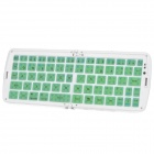 GK208 Wasserdichte Silikon Folding Bluetooth V3.0 66-Key Wireless Keyboard w / Holder - Grün + Weiß