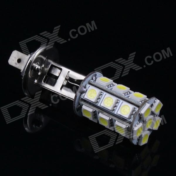 H1 4W 24x5050 SMD White LED Car Side Marker / Backup / Headlight Light (12V) l20121211 1 h7 12w 600lm 6500k 4 smd 7060 led white light car dipped headlight dc 12v