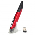 PR-03 2.4GHz Wireless 500 / 1000CPI Optical Pen Mouse w/ USB Receiver - Red (1 x AAA)