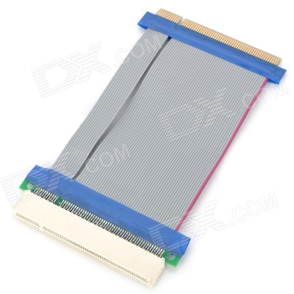 PCI 32-Bit Male to Female Extender Ribbon Cable for 1U / 2U - Grey + Blue