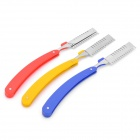 Stylish Replaceable Blade Folding Straight Razor Shelf Frame (Random Color)