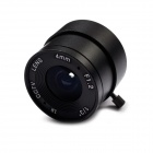 DIY Aluminum Alloy 4mm F1.2 CCTV Camera Lens - Black