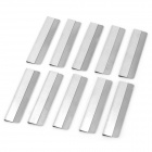 Replacement Stainless Steel Shaving Razor Blades - Silver (10-Piece)