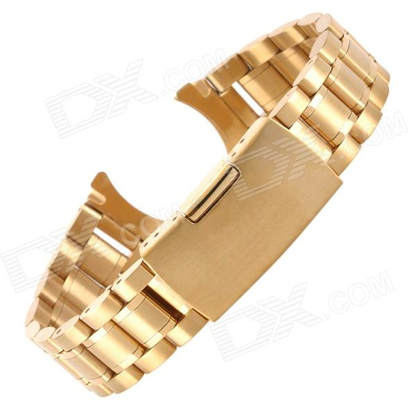 QGY-18 18mm Stainless Steel Watch Band - Golden (18cm)