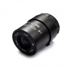 Aluminum Alloy 6mm F1.2 CCTV Camera Lens - Black