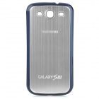 Wire Drawing Pattern Replacement Housing Back Cover Case for Samsung i9300 Galaxy S III - Silver