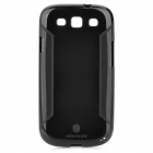 NILLKIN Fashion Protective Matte Back Case w/ Capacitive Pen for Samsung i9300 - Black