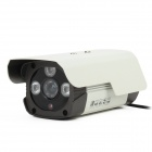 HS-998TZTC 30 Degrees 700TVL CCD 3-LED IR Waterproof Video Camcorder - White