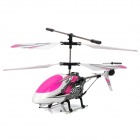 F102 Rechargeable 3.5-CH IR Controlled Aluminum Alloy R/C Helicopter - Pink + White