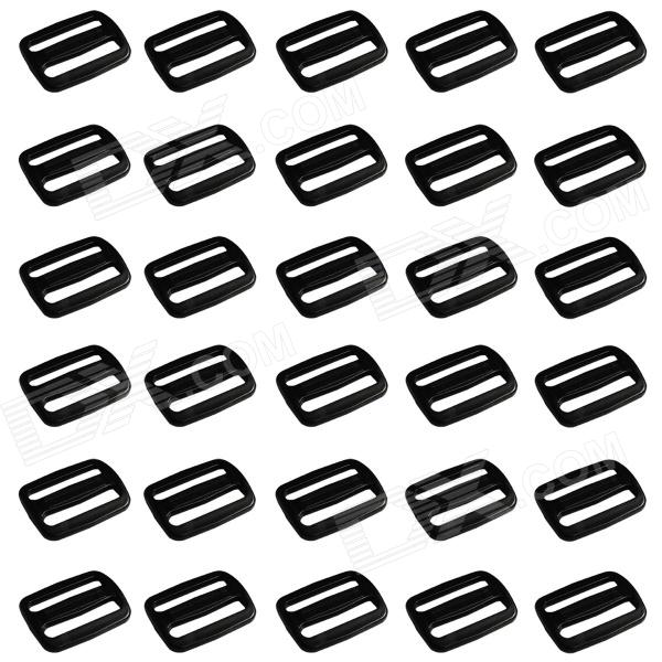 Simple Plastic Luggage Strap Belt Clip Buckles - Black (30-Piece Pack) luggage belt strap belt cord rope black for suitcase travel luggage strap 2m