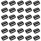 Simple Plastic Luggage Strap Belt Clip Buckles - Black (30-Piece Pack)