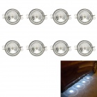 1W 4-LED White Light Under-Car Lamp / Decoration Light / Daytime Running Light (12V / 2PCS)