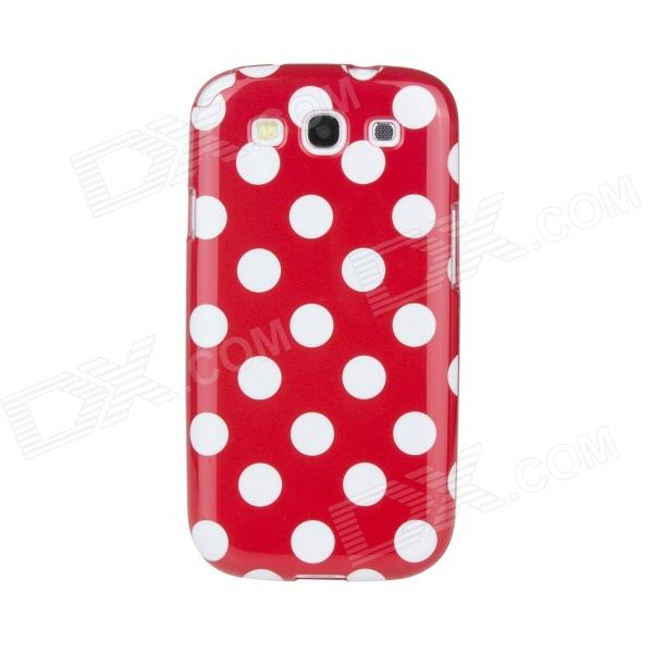 Lovely White Dots Pattern Protective Plastic Case for Samsung Galaxy S3 i9300 - Red kinston colorful flowers and butterflies pattern plastic protective case for samsung galaxy s3 i9300