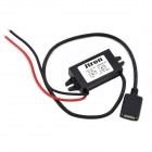 DC 12V to DC 5V Converter Voltage Regulator - Black