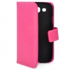 Oscase Protective PU Leather Flip-Open Case for Samsung i9300 / Galaxy S III - Dark Pink