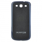 Replacement Housing PU Leather Back Cover Case for Samsung Galaxy S III i9300 - Black