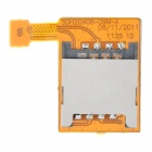 SIM Card Socket Flex Cable Ribbon for HTC G21 - Yellow + Silver