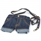 Fashion Jeans Shorts Style Protective Cell Phone Carrying Case Pouch - Blue