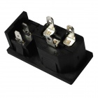 2-en-1 AC 250V 10A plates Plug Power Socket Prises w / On / Off Rocker Switch (5-pièces Pack)