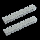 0.8CM 24P Terminal Blocks - White (2-Piece Pack)