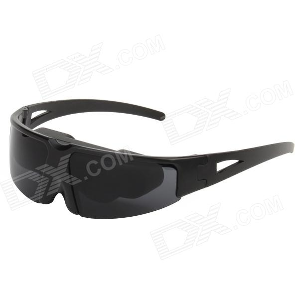 "VG-02 Rechargeable 52"" Virtual Screen Video Plastic Glasses w/ AV-In / 2-Earphone Ports - Black"