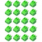 2-Pin 3.5mm DIY Binding Post Terminals - Green (20-Piece)