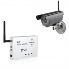 300KP 2.4GHz Digital Wireless DVR Camera w/ IR-Cut / SD / 36-LED IR Night Vision - Silver + Grey