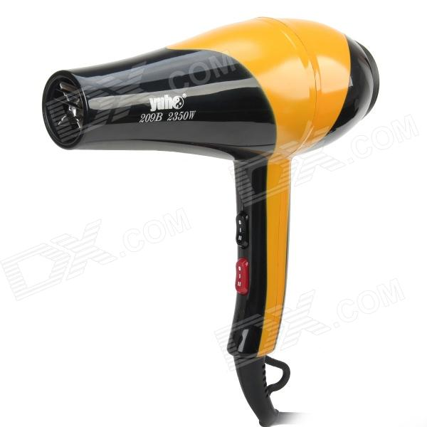 YH-209B 2350W Electric Pets Hair Dryer - Yellow + Black (3-Flat-Pin Plug / 250cm) 5 pcs ac 250v 10a spdt 1no 1nc 3 pin black red hot wind control button rocker switch for hair dryer