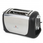 ST-880 750W Stainless Steel Toaster - Silver + Black