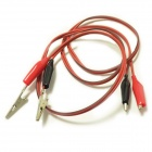 DIY Testing Probe Clip Cable - Red (90cm / 2-Piece)