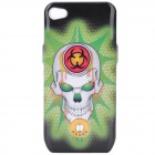 Scary Skull Pattern External 1800mAh Power Battery Back Case for iPhone 4 / 4S - Green + White