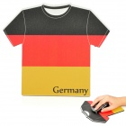 World Cup Jersey for German Style Mouse Pad Mat - Black + Red + Yellow (17.5 x 20 x 0.4cm)