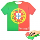 World Cup Jersey for Portugal Style Mouse Pad Mat - Red + Green (17.5 x 20 x 0.4cm)
