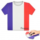 World Cup Jersey for France Style Mouse Pad Mat - Purple + Red + White (17.5 x 20 x 0.4cm)