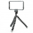 B-4 Protective Case + Camera Tripod For iPhone 4/4S - Dark Grey + Black