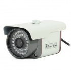 "HS-622TC 700TVL 1/3"" CCD 36-LED IR Waterproof Surveillance Security Camera - White"