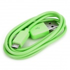 USB Male to Micro USB Male Data / Charging Cable for HTC / Samsung / Motorola - Green (100cm-Length)