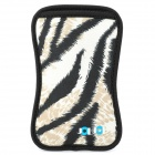JJ102 Plush Leopard Skin Pattern Protective Nylon Bag for Samsung i9100 - Black + Grey