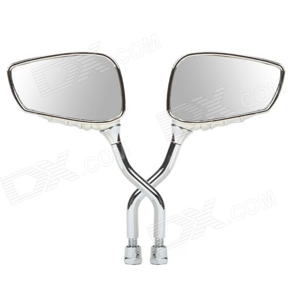 Skeleton Hand Style Motorcycle Rearview Mirrors - Silver (Pair)