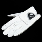 COUGAR HG-06 Men's Sheepskin Non-slip Golf Glove - White (Size 25 / Single)