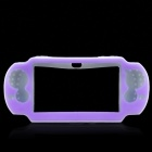 Protective Silicone Cover Case for Sony PS Vita - Purple + White