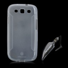 NILLKIN Protective TPU Case w/ Stylus for Samsung i9300 Galaxy S3 - Translucent White