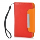 Protective PU Leather Case for Samsung Galaxy S2 i9100 - Red + Orange