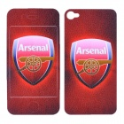 Football Team Arsenal Logo Pattern Protective Front + Back Cover Skin Sticker for iPhone 4 / 4S