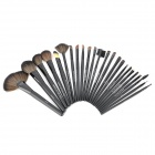 Professional Cosmetic Makeup Brushes Set - Black (24 PCS)